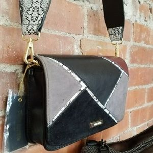 NEW Dream Control Black Suede Leather Crossbody